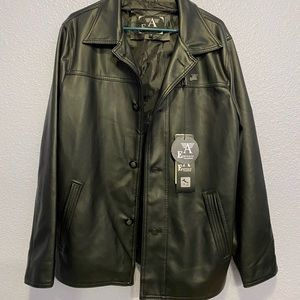 Italian Men's High Quality Faux Leather Jacket